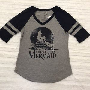 Disney Little Mermaid Baseball Tee Shirt